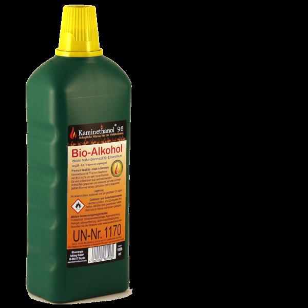 24 Liter Bioethanol 96,6%, 24 Flaschen mit Kindersicherung