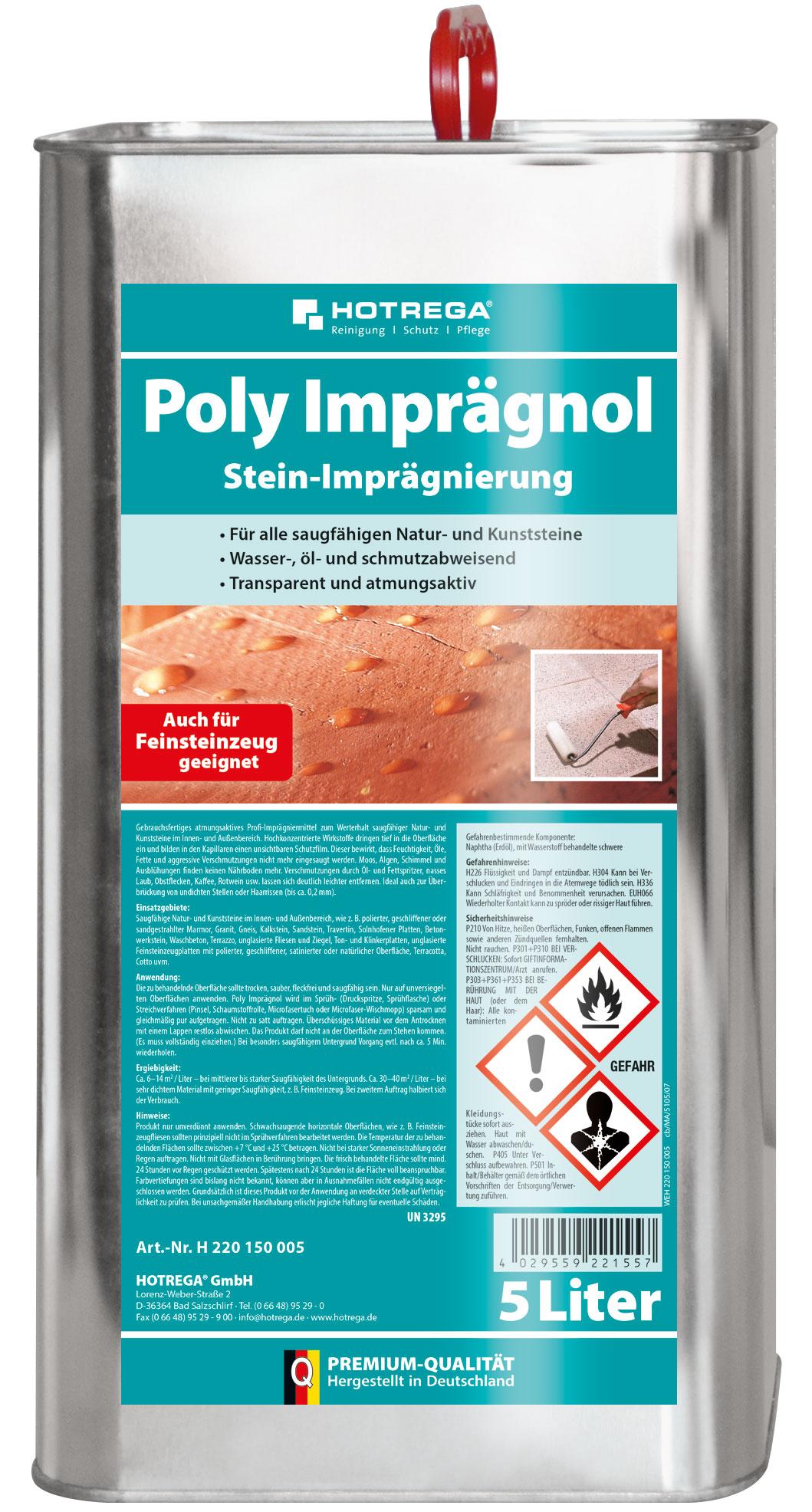 Poly Stein-Imprägnierung im 5 Liter Kanister