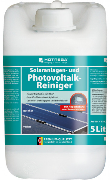 Photovoltaikanlagen Reiniger 8 x 5 Liter (Konzentrat)