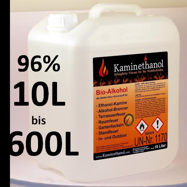 Bioethanol 96,6% im 10-L-Kanister
