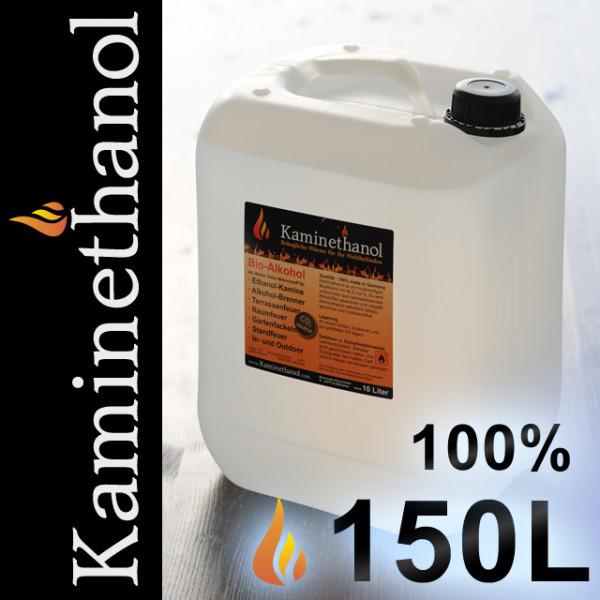 150 Liter Bioethanol 100%, 15 Kanister