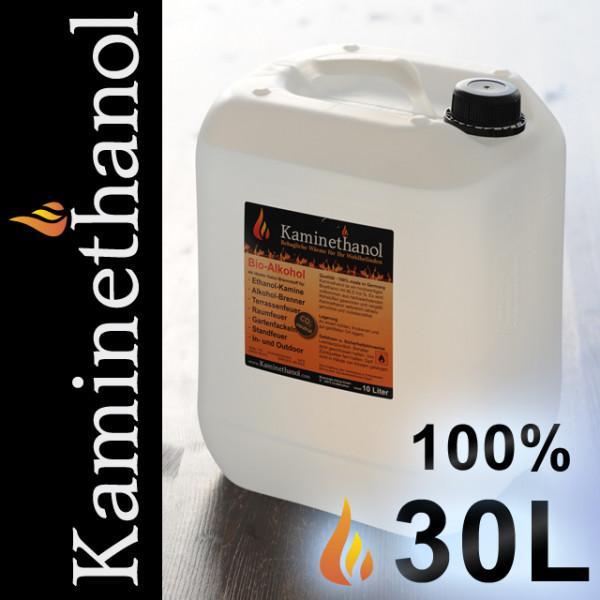 30 Liter Bioethanol 100%, 3 Kanister