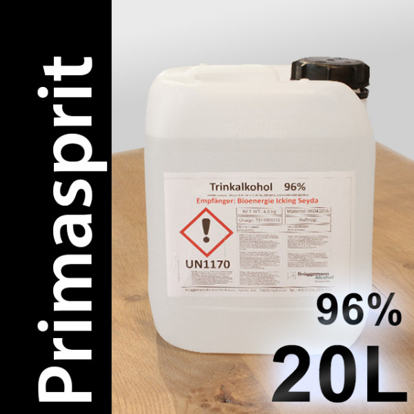 20 L Primasprit 96% Neutralalkohol, 4 Kanister