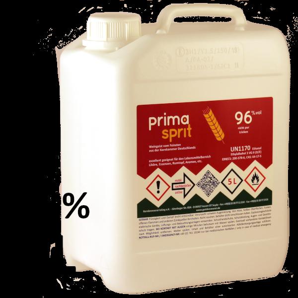5 L Primasprit 96% Neutralalkohol, 1 Kanister