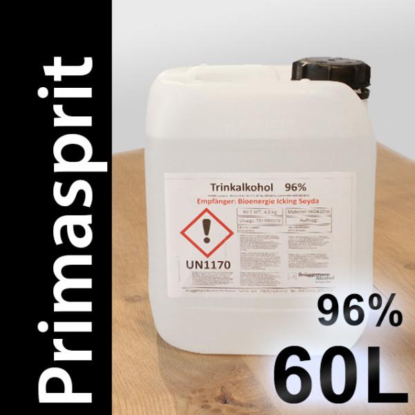 60 L Primasprit 96% Neutralalkohol, 12 Kanister