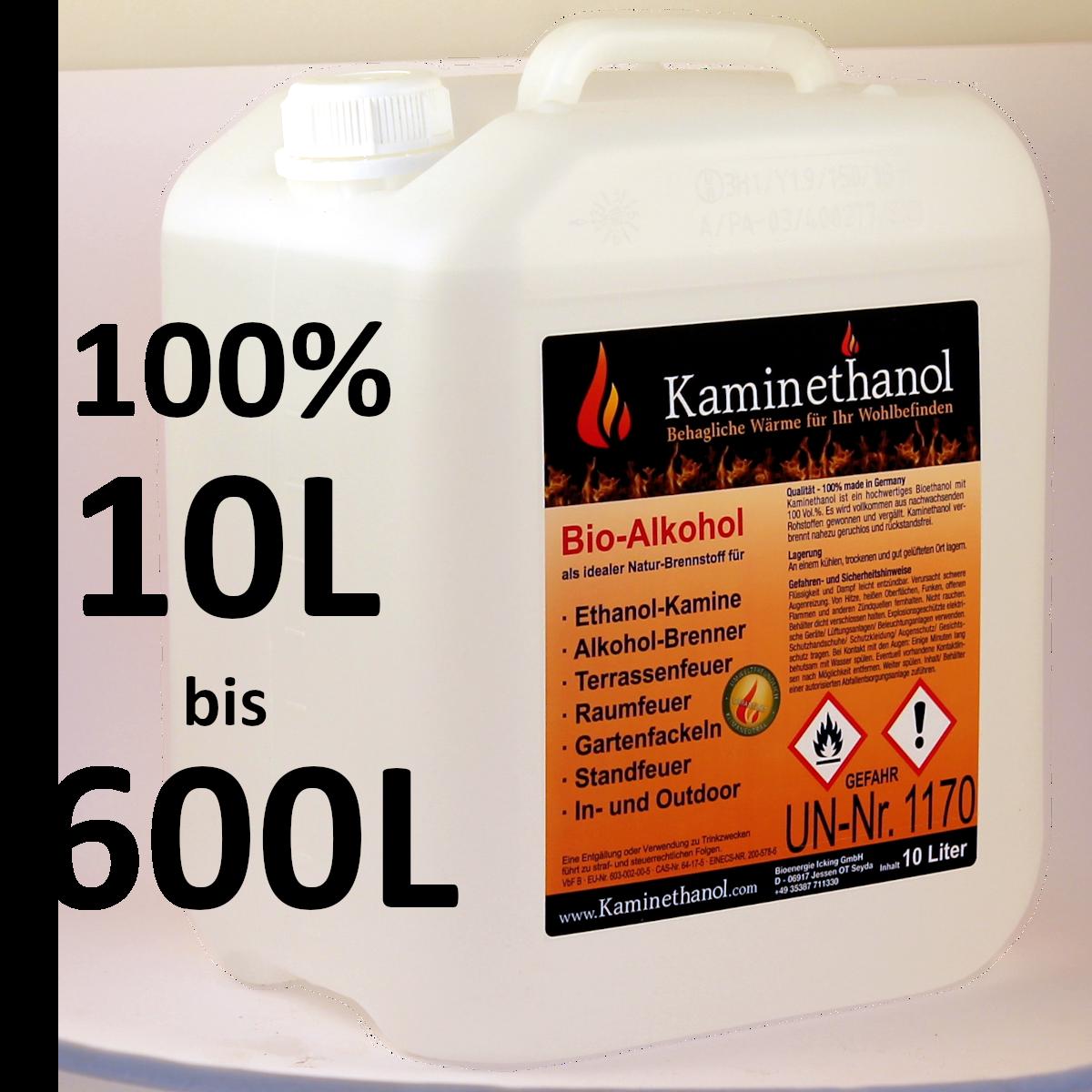 Bioethanol 100% im 10-L-Kanister