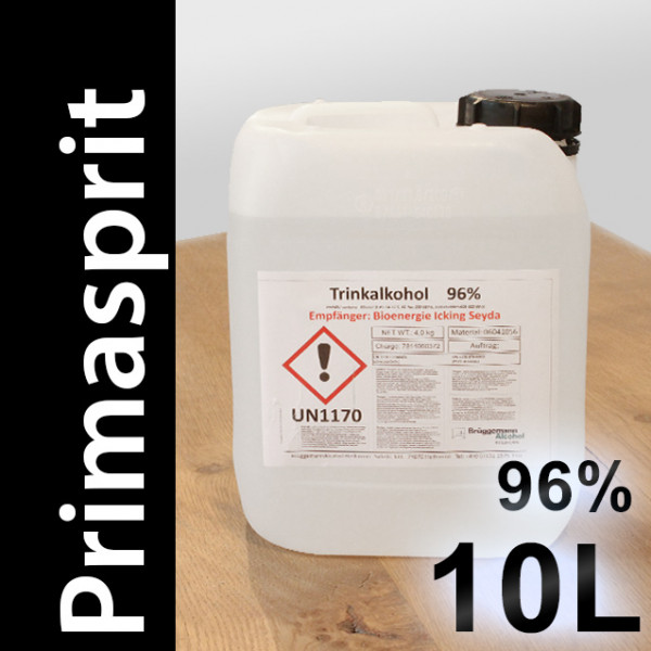 10 L Primasprit 96% Neutralalkohol, 2 Kanister