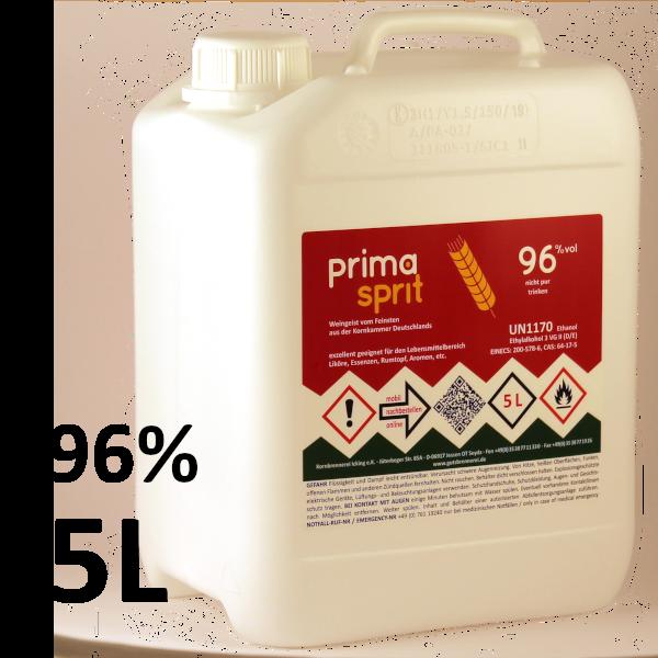 Primasprit versteuert 96% im 5 Liter Kanister