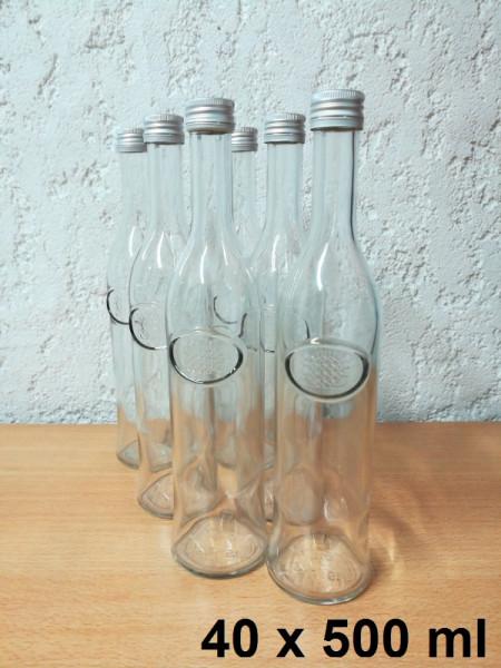 Glasflaschen 40 x 500 ml inkl. Schraubverschluss