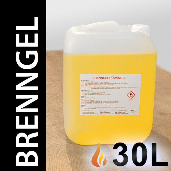30 Liter Brenngel, 3 Kanister
