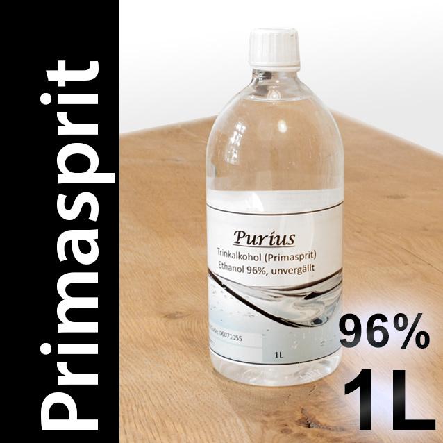 Primasprit versteuert 96% in 1 Liter PET Flaschen