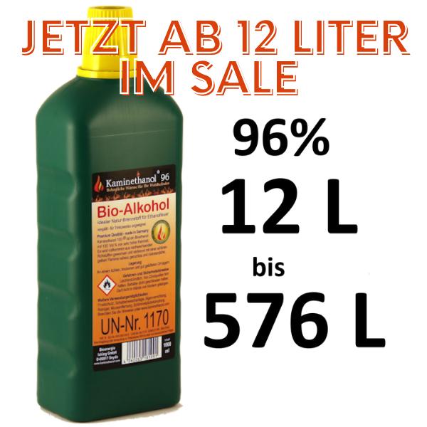 Bioethanol 96,6% Flaschen mit Kindersicherung