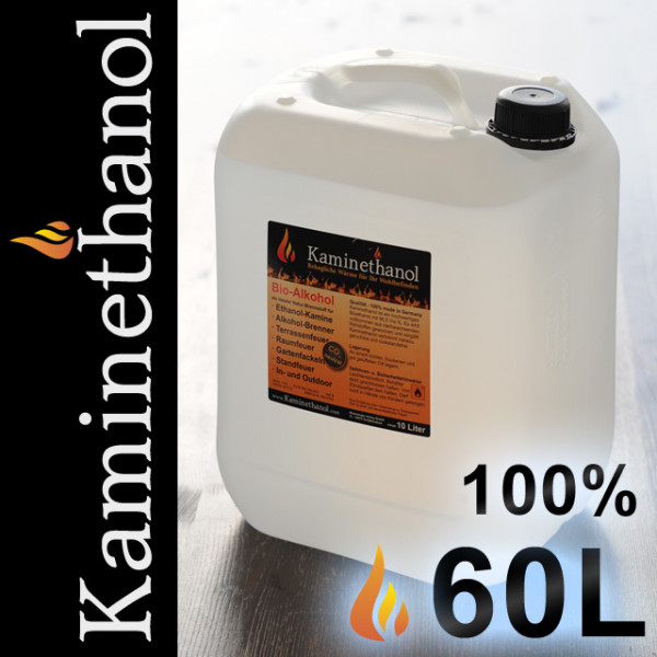 60 Liter Bioethanol 100%, 6 Kanister