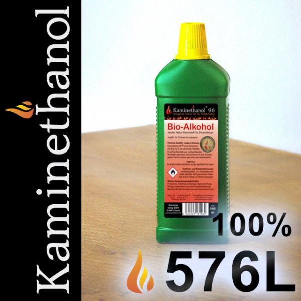 576 Liter Bioethanol 100%, 576 Flaschen mit Kindersicherung