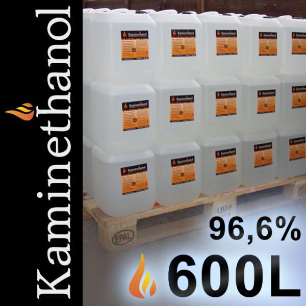600 Liter Bioethanol 96,6%, 60 Kanister