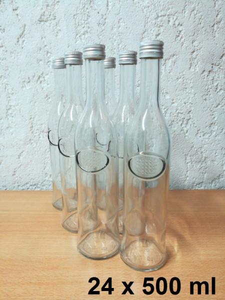 Glasflaschen 24 x 500 ml inkl. Schraubverschluss