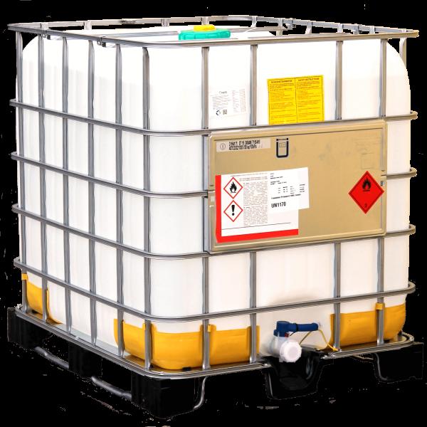 1000 Liter Bioethanol 96,6%, MEK 1%, IPA 1%, Bitrex 1g, 1 Container (inkl. 80 EUR Einweg)