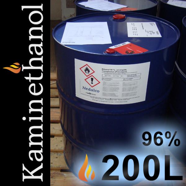 200 Liter Bioethanol 96%,MEK 1%, IPA 1%, Bitrex 1g, 1 Einweg-Fass