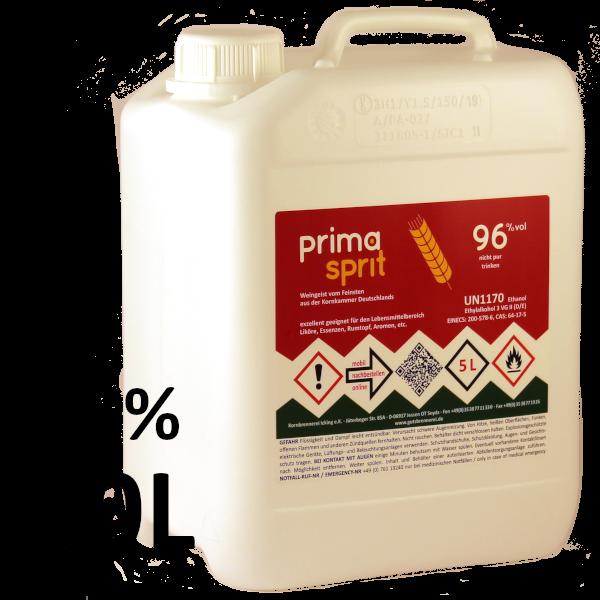 30 L Primasprit 96% Neutralalkohol, 6 Kanister